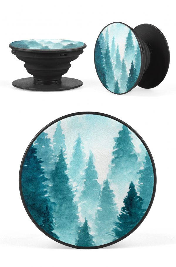 Foggy Rain Forrest Pop Socket